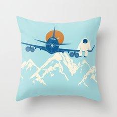Hitchin' a Ride Throw Pillow