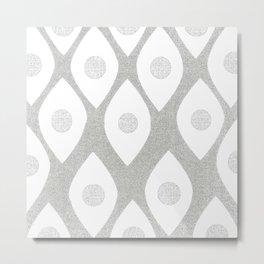 Eye Pattern White Metal Print