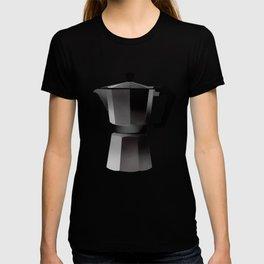Classic Bialetti Coffee Maker Yellow T-shirt