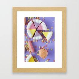 Colorful Gummy Candy Framed Art Print