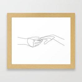 Pop The Love Framed Art Print