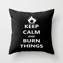 Burn Things Throw Pillow