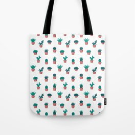 Cacti and Succulents Pattern Tote Bag