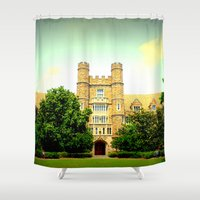 medical Shower Curtains featuring duke medical by Chromatic Reflections