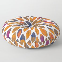 Watercolor brush strokes - rusty effect Floor Pillow