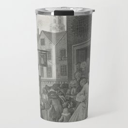 William Hogarth (1697-1764) - The Four Times of the Day (1738) - 'Noon' - engraving series Travel Mug