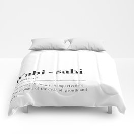 Wabi Sabi Definition Comforters