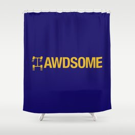 AWDSOME v1 HQvector Shower Curtain