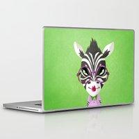 sassy Laptop & iPad Skins featuring Sassy Zebra by Marcia Mailoa