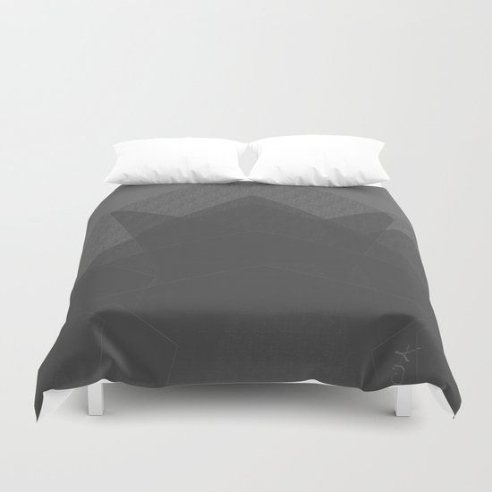 Grey Mountain Climbing. Rock Climbing Duvet Cover