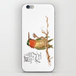 "Emily Dickinson ""Hope"" Hummingbird iPhone Skin"