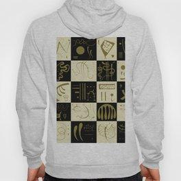 Kandinsky - Black and Gold Pattern - Abstract Art Hoody