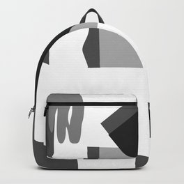 Matisse Inspired Black and White Collage Backpack