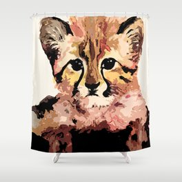 Leo the leopard Shower Curtain