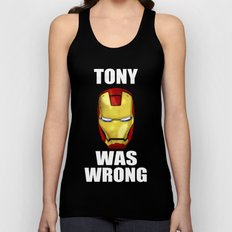 Tony Was Wrong (Iron Man Movie Version) Unisex Tank Top