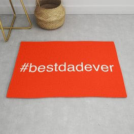Hashtag Best Dad Ever Rug