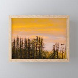 Forest on Fire | Sunset Landscape Photography | Dutch Landscape photo Art Print Framed Mini Art Print