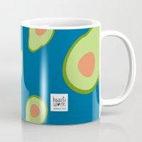 avocado Mugs featuring avocado by HeartWork Brand