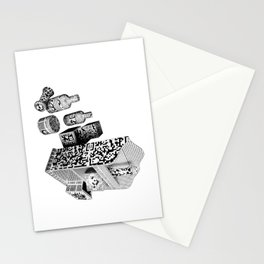 Black and White Everyday Life Internet of Things Stationery Cards