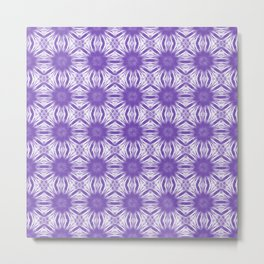 Purple Floral Abstract Metal Print