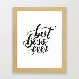 Best Boss's day T-shirt HBD Framed Art Print