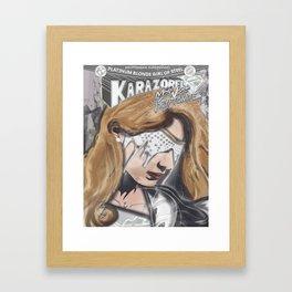 Miss White Kryptonite - Platinum Blonde Girl of Steel - Visor Framed Art Print