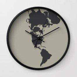 Dymaxion Map - Greys Wall Clock