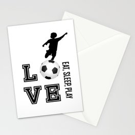 Eat, Sleep, Play  Love Volleyball Stationery Cards