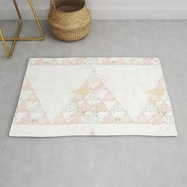 triangular crystals Rug
