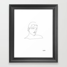 One line Blade Runner Roy Baty (Rutger Hauer) Cocteau style Framed Art Print