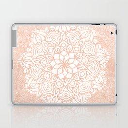 Seashell Mandala Coral Pink and White by Nature Magick Laptop & iPad Skin