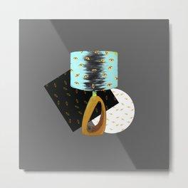 The Lamp is Watching / Lamp I / Yellow Eyes Metal Print