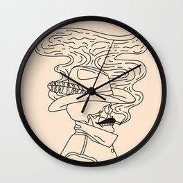 Love or Die Tryin' - Cowhand Black & Cream Wall Clock