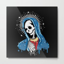 Virgin Mary prays Metal Print