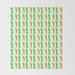 flag of ireland-ireland,eire,airlann,irish,gaelic,eriu,celtic,dublin,belfast,joyce,beckett Throw Blanket