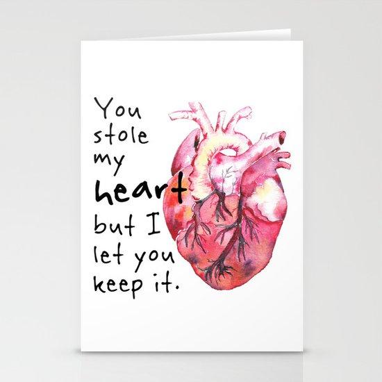 Stolen Heart Stationery Cards