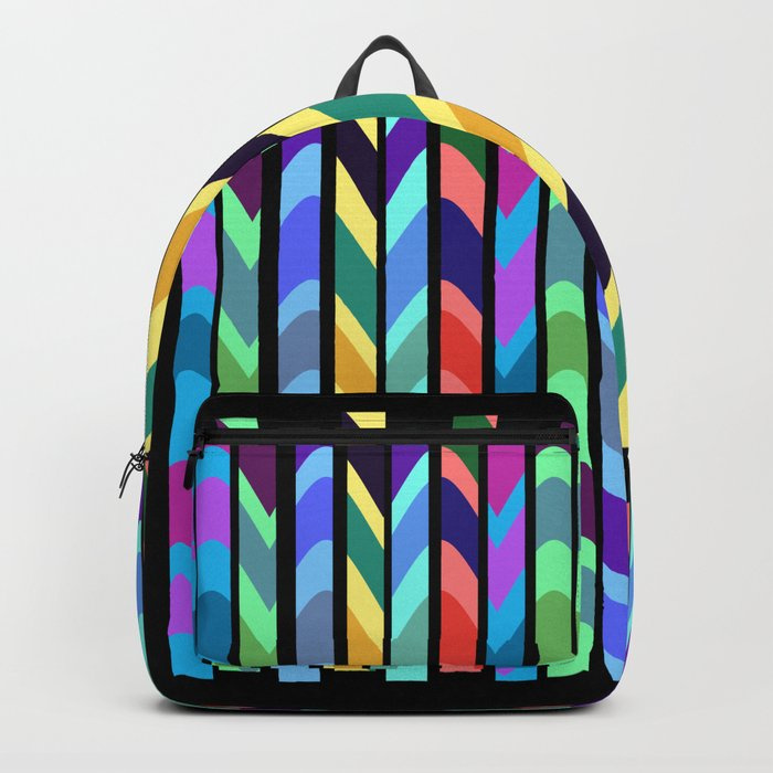 Waves and stripes Backpack