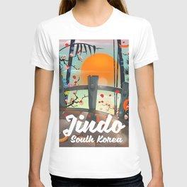 Jindo South korea travel poster. T-shirt