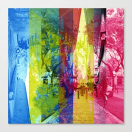 Overlap interrupting wrapped up in thoughts while. [CMYK] Canvas Print