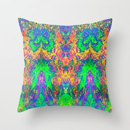 Psychedelic Spill 24 Throw Pillow