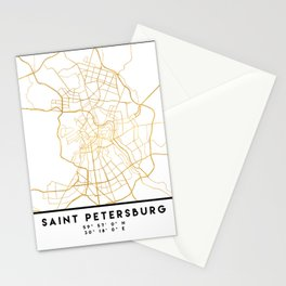 SAINT PETERSBURG CITY STREET MAP ART Stationery Cards