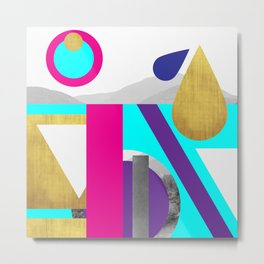 Abstractions No. 2: Mountains Metal Print