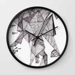Robot trapped in triangles Wall Clock