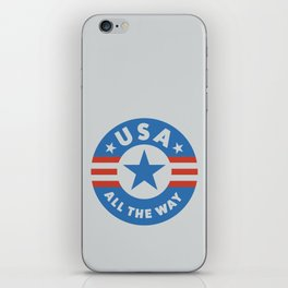USA ALL THE WAY iPhone Skin