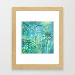 Kereru in New Zealand Foliage Framed Art Print