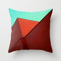 the office Throw Pillows featuring BOX OFFICE by DANIEL COULMANN