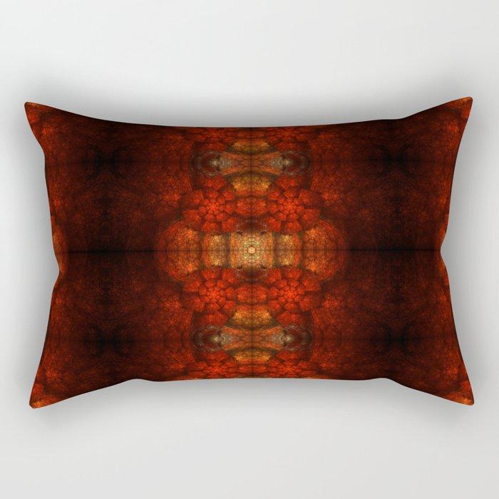 Fractal Art - Kaleidoscope Ammonite Rectangular Pillow