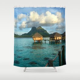 Bora Tahiti Bungalow 2 Shower Curtain