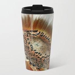 Cream Colored Sunflower Metal Travel Mug