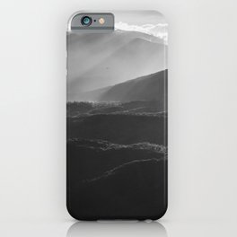 Sunrise in North Georgia Mountains BW #blackwhite iPhone Case